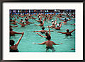 Water-Aerobics-at-Thermal-Spa-Harkany-Hungary-Framed-Photographic-Print-C12421856